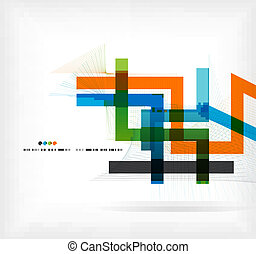 Straight lines business colorful template - Straight lines...