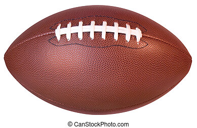 Straight-on shot of an NFL Football