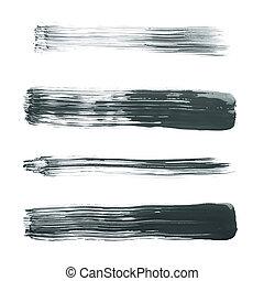 Straight oil paint brush strokes
