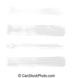 Straight oil paint brush strokes