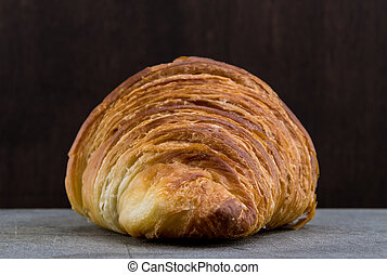 Straight on Show of Croissant Pastry