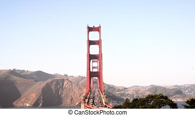 Straight On View of Golden Gate Bridge