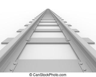 Straight railroad - Straight Railroad. Concept of transport....