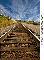 Straight Railroad Tracks
