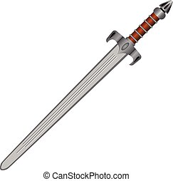 Straight sword - Classic medieval straight sword for one...