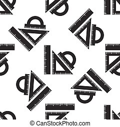 Straightedge icon seamless pattern on white background. Vector Illustration