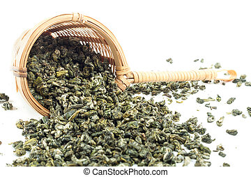 strainer thé, vert