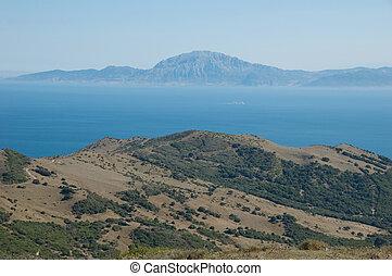 Strait of Gibraltar - Beautiful view on strait of Gibraltar,...