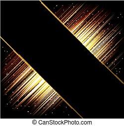 stralen, licht, abstract, achtergrond., vector, frame