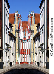 stralsund, oude stad, abstract