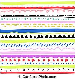 stram, hånd, seamless, mønster