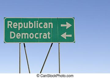 strana, veřejný, cesta poznamenat