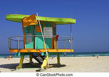 strandőr, állomás