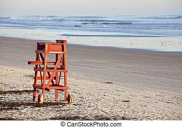 strandőr, ülés
