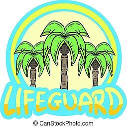 strandőr, jelkép, tervezés