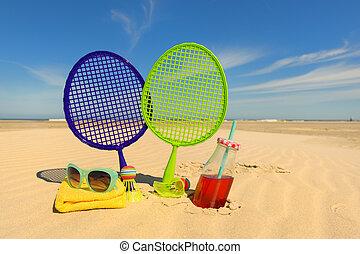 strand, boldspil tennis