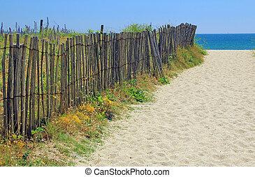 strand, ingång