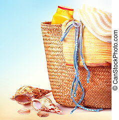 strand, items, stilleven