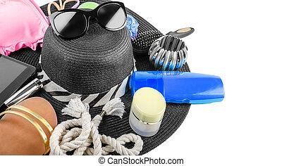 strand, items, stilleven