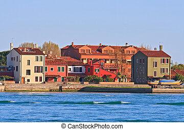 strand, olaszország, sáv, lakóhely, velence, sziget