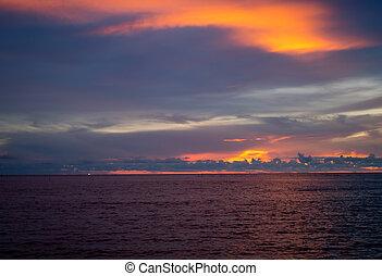 strand, ondergaande zon , mooi