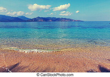 strand, op, gili