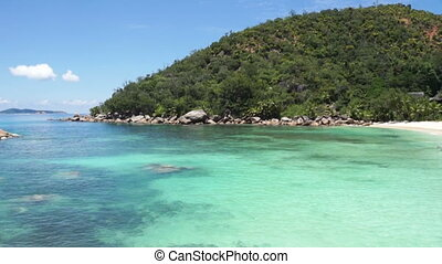 strand, op, seychellen, eilanden
