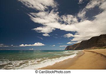 strand, polihale, kauai