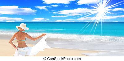 strand, prachtig