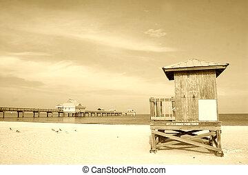 strand, retro