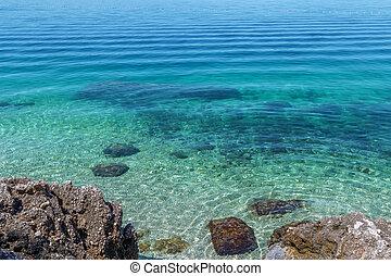 strand, sandstrand, brela, kroatien