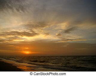 strand, solopgang