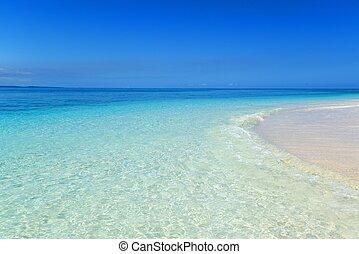 strand, summertime, prachtig