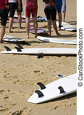 strand, surfers