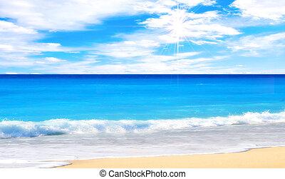 strand, underbar