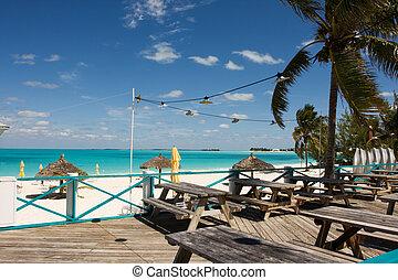 strand, uteplats