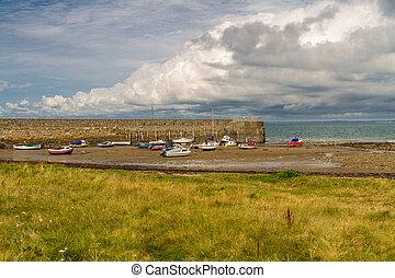 strand, wales., trefor, noorden