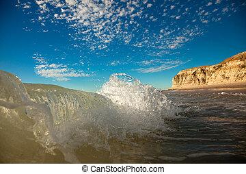 stranden, vågor