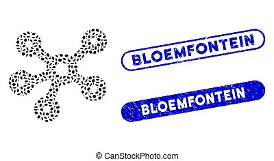 strandhed, bloemfontein, frimärken, mosaik, oval, nav, ...
