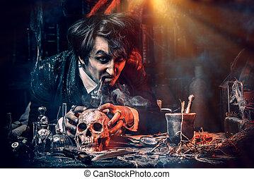 strange alchemist scientist