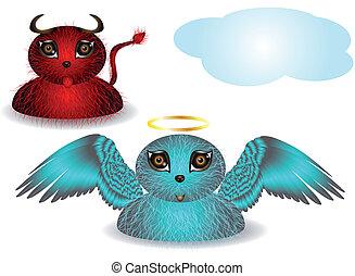 strange angel and demon