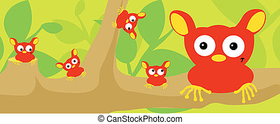 strange animal family