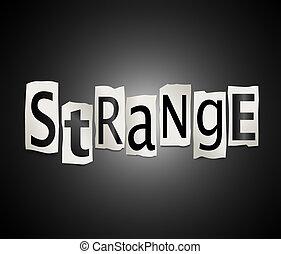 Strange concept. - Illustration depicting a set of cut out...