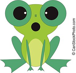 Strange frog vector or color illustration