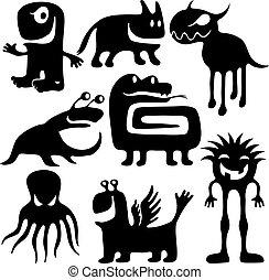 strange funny characters set