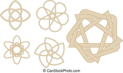 Strange knots - Abstract vector illustration of strange...