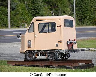 Strange little car - Vintage little mining car