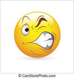 Creative Abstract Conceptual Design Art of Smiley Emoticons Face Vector - Strange Expression
