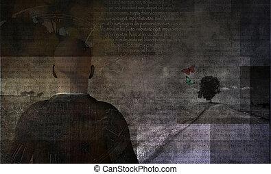 Stranger - Man in artistic landscape