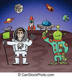 straniero, astronauta